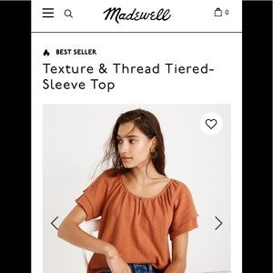 Madewell Texture & Thread Tiered-Sleeve Top